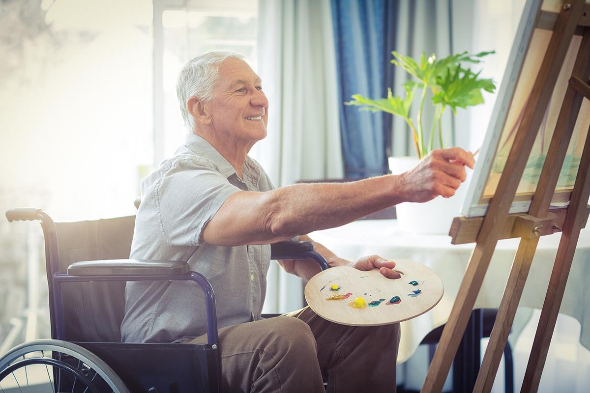 Anziano che dipinge